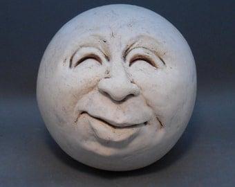 Man-in-the-Moon Garden Head, Antique White, Eggshell