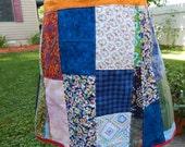 Plus size All Patchwork Hippie Patchwork Skirt Short Mini Spinner skirt Festival skirt, hippie clothes OOAK skirt, boho chic skirt