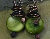 30% Off Pearl Earrings Pearls Copper Earrings Copper Jewelry