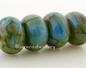 Handmade Lampwork Glass Bead Set - Icing on the Cake - TANERES - glossy or matte option