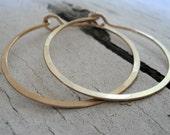 Satin Hoops - Handmade. Handforged. 14k goldfill hoops. Choice of 6 sizes