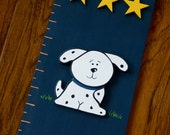 Sports Dog Wooden Growth Chart