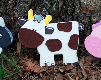Felted Barnyard Animals Quilt Clips Set/3