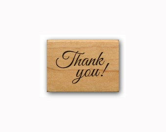 Thank you! - Mounted rubber stamp #23