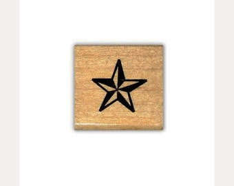 Star mounted rubber stamp, military, western, galaxy, accent stamp, twinkle, astronomy, Sweet Grass Stamps No.1