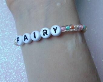 fairy beaded bracelet