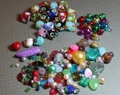 Colorful Glass Beads Bright Colorful Beads Gemstone Beads Jingle Bells Jewelry supplies Pearls Spacers Variety Mix