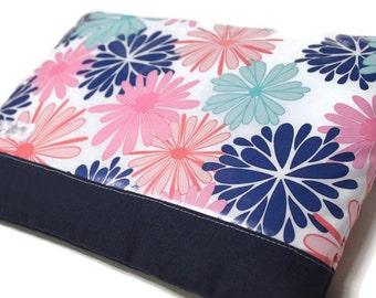 "Women's 11"" MacBook Air Sleeve 13"" Laptop Sleeve, Water Resistant MacBook Pro Case, Yoga Pro 3 Girl's Laptop Sleeve - Navy and Pink Floral"