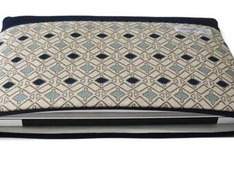 "Women's Laptop Sleeve Case, Dell XPS 13 Case, MacBook Sleeve, 11""-15"" Chromebook Case Cover - Blue Diamonds"