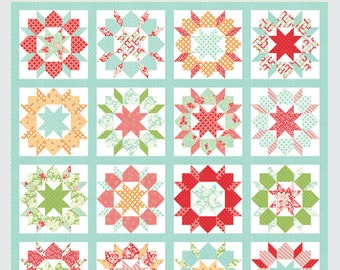Swoon Sixteen quilt pattern from Thimble Blossoms - fat quarter friendly