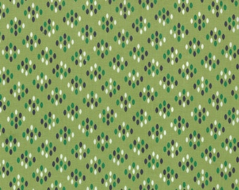 SALE - Color Me Happy - Cluster Drops in Lime Green: sku 10824-15 cotton quilting fabric by V and Co. for Moda Fabrics - 1 yard