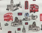 Doctor Who London Icons fabric, hard to find 1 yard, Riley Blake