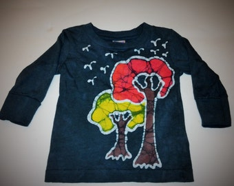 Kids Handmade Batik Canopy Tree Shirt