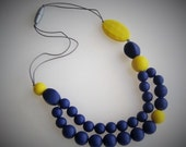 Manoushak, Nylon, BPA-free Silicon Teething Necklace