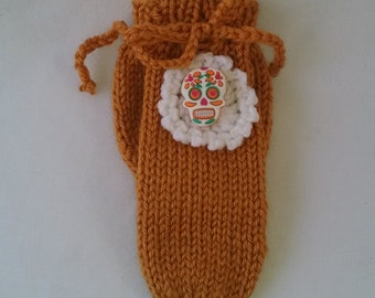 Willie Warmer Penis Cozy, Day of the Dead Gold willie warmer for men, mature