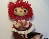 Primitive Raggedy Ann Doll Peppermint Raggedy Doll