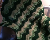 Green Ripples Afghan for Mary Kosty