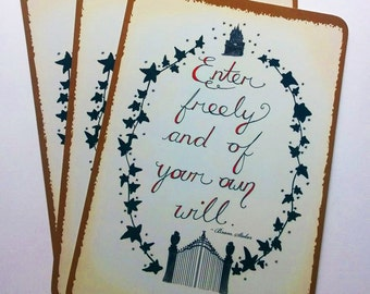 Halloween Cards Dracula post/notecard set - Pack of Ten cards