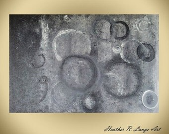 Modern Abstract Painting Gray Black White Canvas Original Art Masculine Style Contemporary Space Circles Acrylic Made To Order