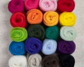 20 Colors Wool Roving Super Pack for Felting or Spinning