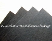 Nicoles BeadBacking 4 pack 12x9 Midnight Black Beading Fabric Bead Foundation Art Supplies Textiles