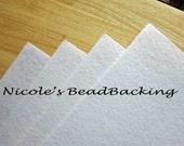 Nicoles BeadBacking 4 pack 12x9 Snow White