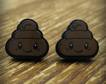 Poo Kawaii Poop Earrings