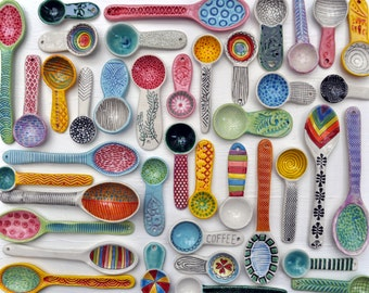 Brightly Colored Art Print- Spoons- Photograph of Ceramic Spoons by chARiTy elise