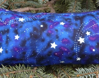 Glow in the Dark Stars flat bottom bag, flat bottom pouch, makeup bag, knitting notion pouch, The Zini