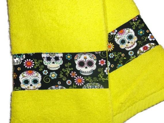 Halloween Skulls Kitchen Towels