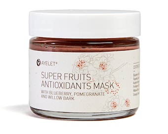 Antioxidants Brightening Mask| Super fruits Facial Mask|Enzyme Facial Mask|Vitamin C Facial Mask|Anti Pollution Mask| Rejuvenating Mask