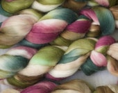 Handpainted Merino Wool and Kid Mohair Roving in Lily Pond by Blarney Yarn