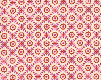 SALE (30) HALF YARD Cotton and Steel - Lucky Strikes by Kim Kight - 3021-001 - Coffee Shop in Red - Quilting Cotton