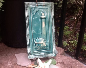 Lighthouse Tile in Turquoise