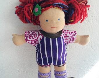 COURTNEYCOURTNEY purple/stripes/magenta/romper bamboletta waldorf doll clothing