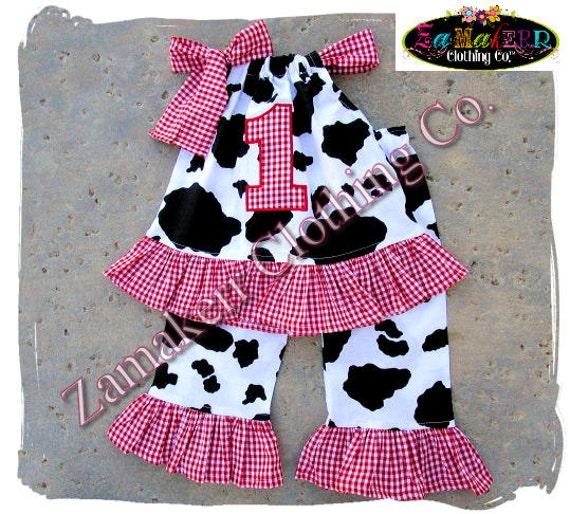 custom boutique clothing baby barn farm cow top