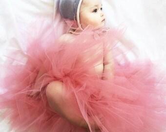 Sweet Flower Girl *Long* TuTu size small 6-24months.CUSTOM COLOR tutu, Flower Girl tutu, Baby tutu, Custom Girls tutu, Birthday tutus, Weddi