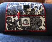 Black and White and Red All Over - Over The Shoulder Notions Holder - Angry Biscuit Designs