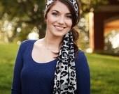 Animal Print Headbands, Womens Leopard Head Scarf Headband