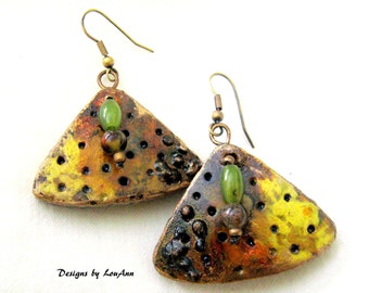 Wild and Sassy Gourd Earrings