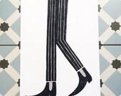 Stride - Beatnik Legs Print