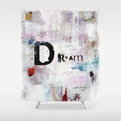 Dream shower curtain from original abstract spiritual for Spiritual shower