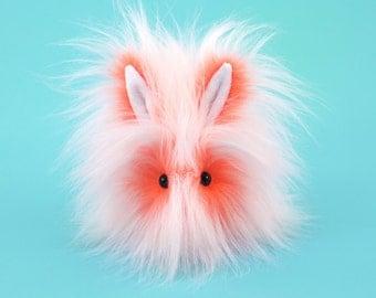 Stuffed Bunny Stuffed Animal Cute Plush Toy Rabbit Kawaii Plushie Orange Fizz the Snuggly Cuddly Faux Fur Toy Bunny Small  4x5 Inches