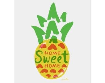 Pineapple Home Print