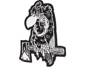 Vulture Patch - Buzz Off, Lowbrow Art, Buzzard Embroidered Patch