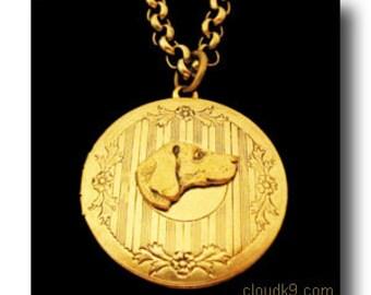 VIZSLA JEWELRY. LOCKET Necklace. Vintage Style Vizsla Jewelry. Gifts for Dog Lovers by Cloud K9 Photo Locket Pendant
