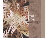 Woven Twill Star PDF digital instructions directions tutorial basket weaving instant download