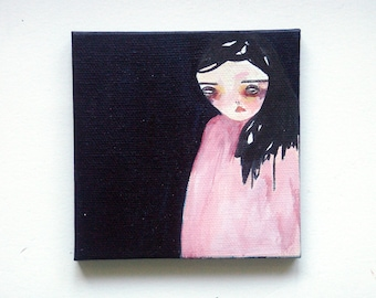 girl painting, the mystery
