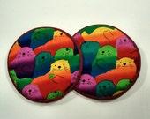 Colored Otter Cloth Coaster Set of 2  Set #34