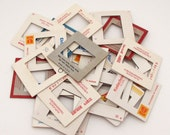 25 Photo Slide Frames - Cardboard Frames - 35mm slides frames - scrapbooking - collage - assemblage